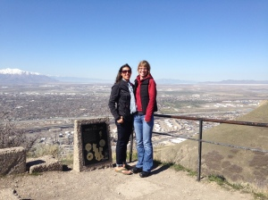 Sightseeing Ensign Peak in Salt Lake City with my wonderful friend, Beth.
